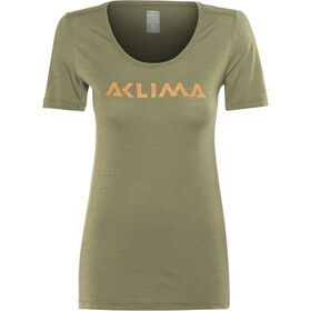 Aclima LightWool T-Shirt Women ranger green